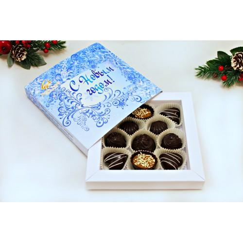 """Набор шоколадных конфет """"С Новым годом"""" 125 гр"""