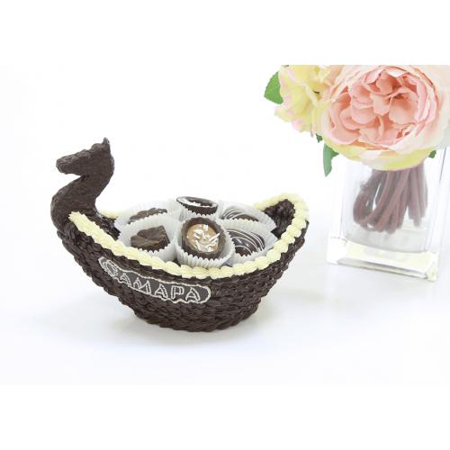"""Сувенирный набор """"Шоколадная ладья"""" 385 гр"""