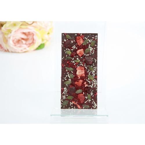 Шоколадная плитка с сублимированными ягодами 60 гр
